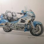 Honda Goldwing dibujo