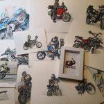 Dibujo tu moto por encargo. Pablo Villa