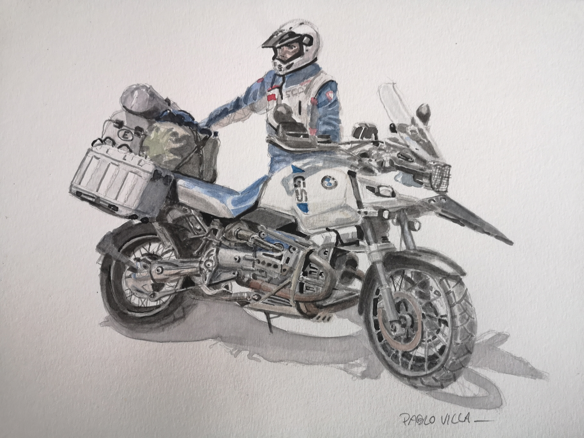 R1150 GS watercolor acuarela